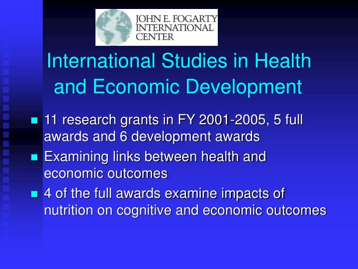 International Studies in Health and Economic Development
