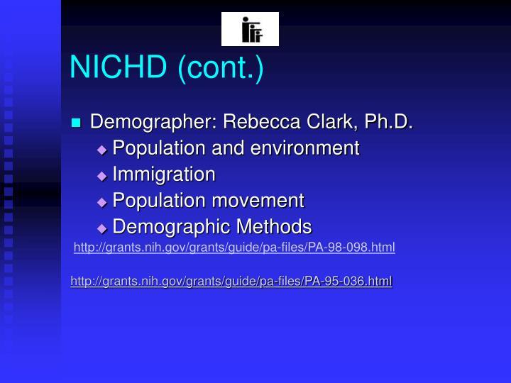 NICHD (cont.)