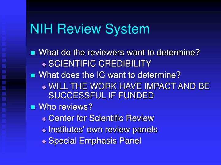 NIH Review System