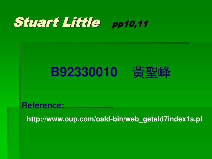 Stuart little pp10 11