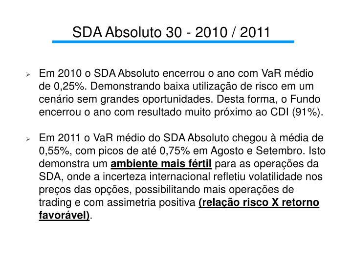 SDA Absoluto 30 - 2010 / 2011
