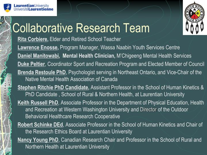 Collaborative Research Team