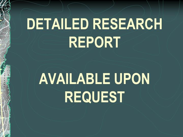 DETAILED RESEARCH REPORT