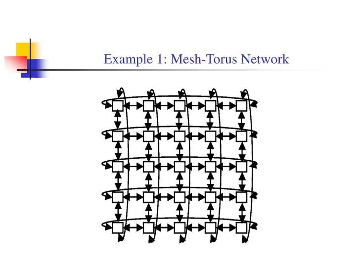 Example 1: Mesh-Torus Network