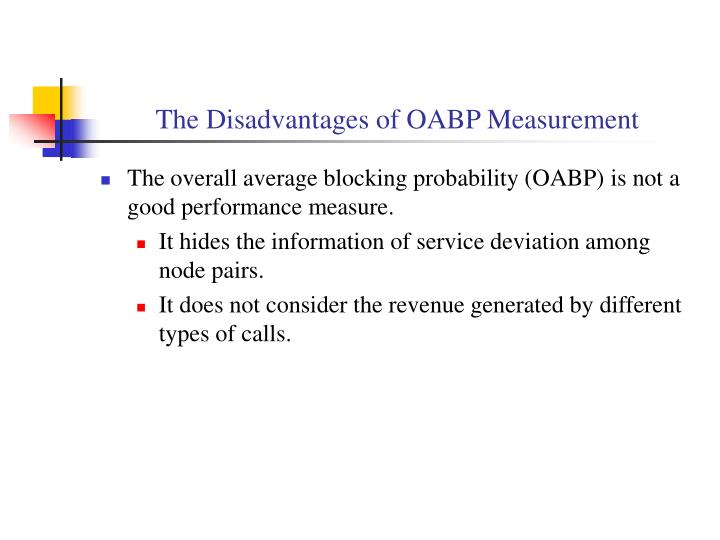 The Disadvantages of OABP Measurement