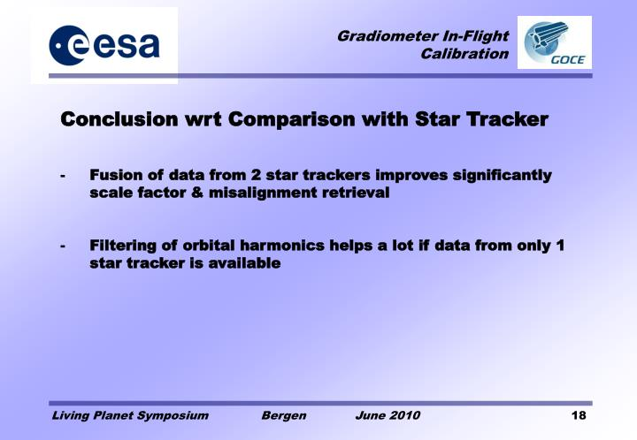 Conclusion wrt Comparison with Star Tracker