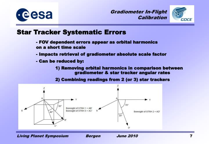 Star Tracker Systematic Errors