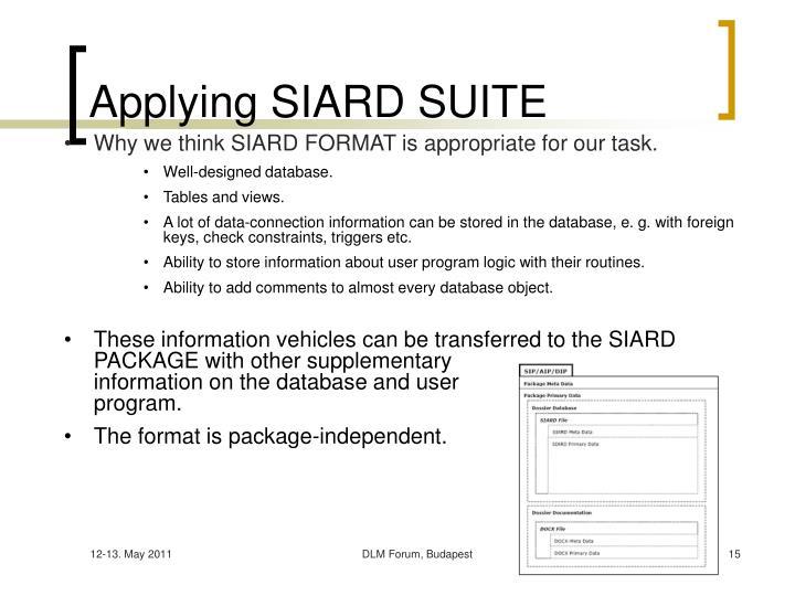 Applying SIARD SUITE