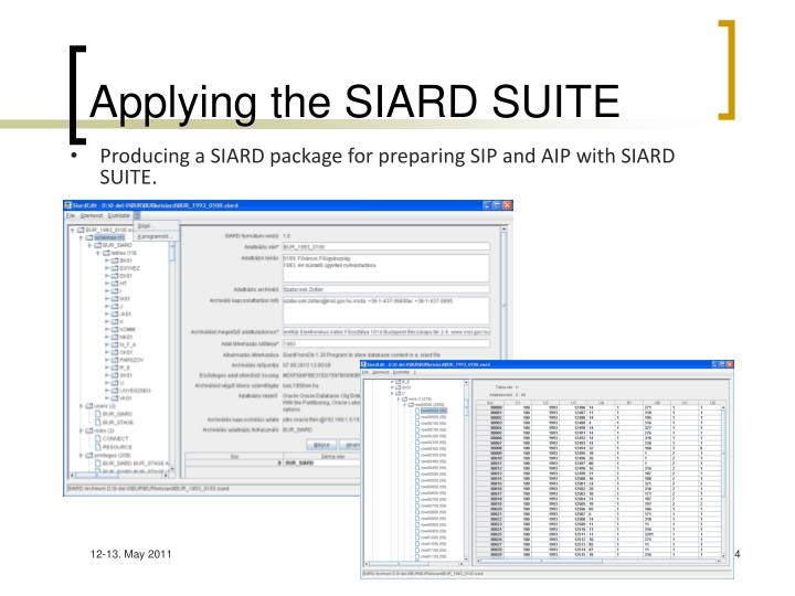 Applying the SIARD SUITE