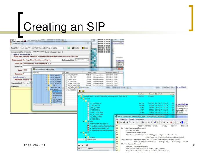 Creating an SIP