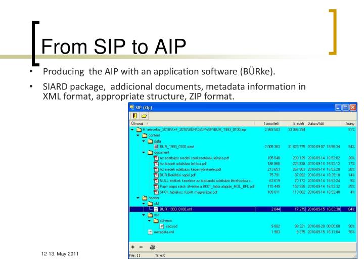 From SIP to AIP