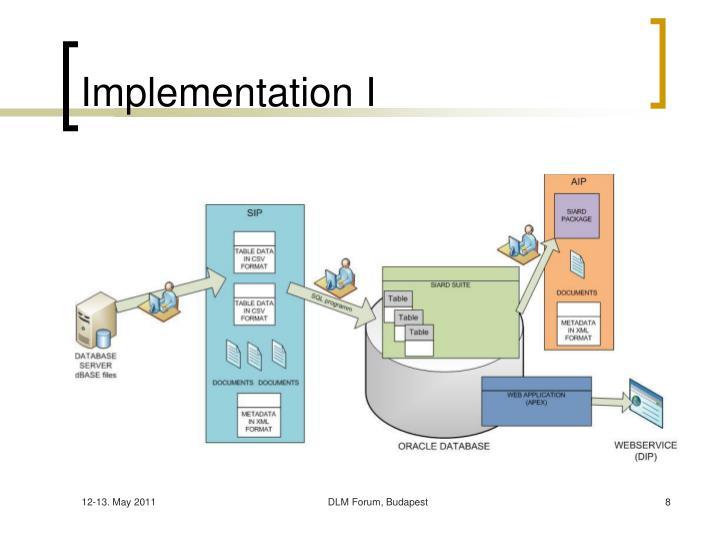 Implementation I