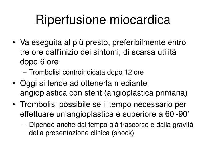 Riperfusione miocardica