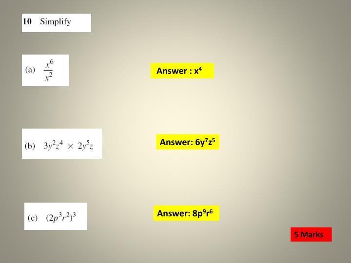 Answer : x