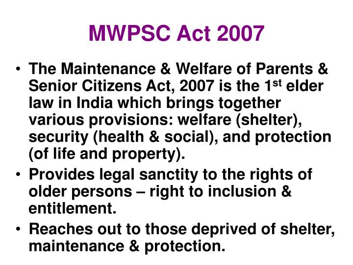 Mwpsc act 2007