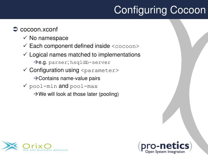 Configuring Cocoon