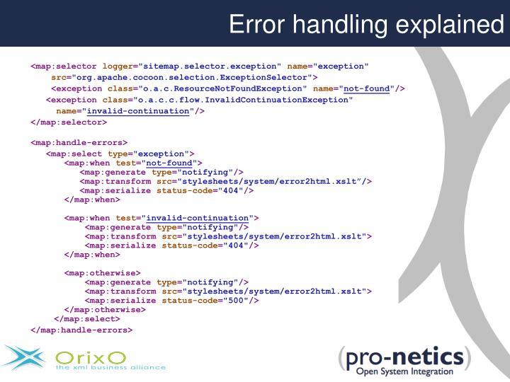 Error handling explained