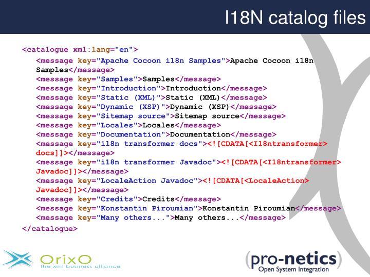 I18N catalog files