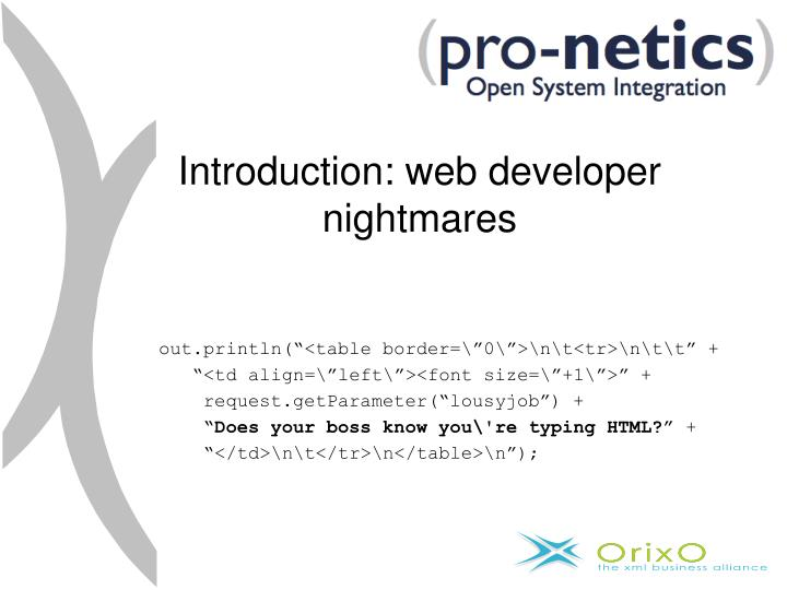 Introduction: web developer nightmares