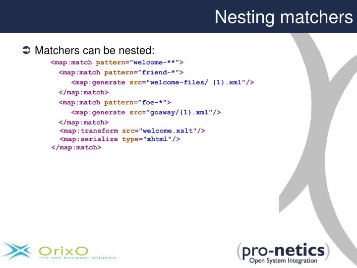 Nesting matchers