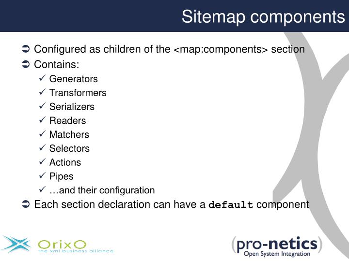 Sitemap components