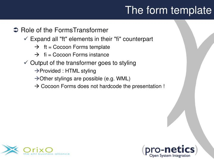 The form template