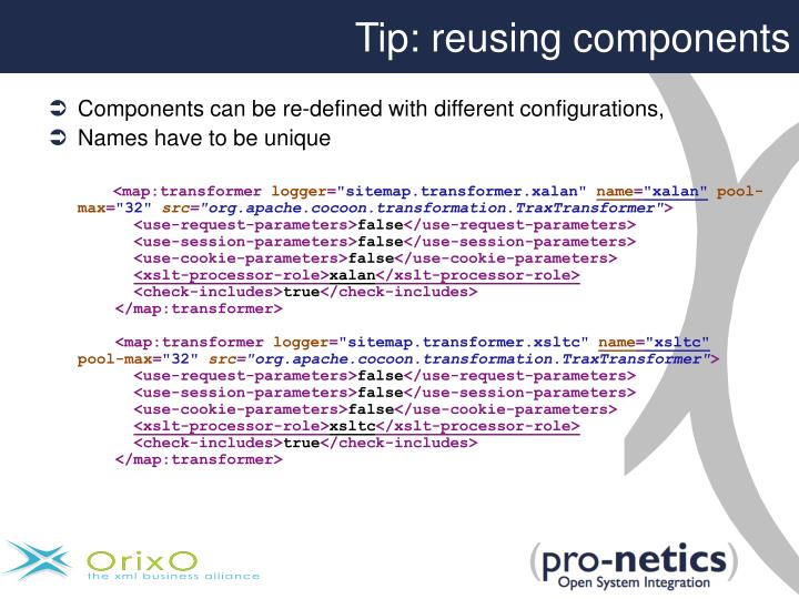 Tip: reusing components