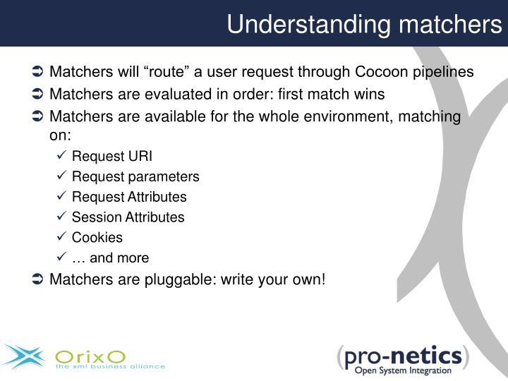 Understanding matchers