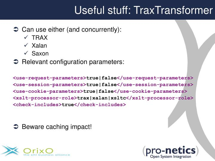 Useful stuff: TraxTransformer