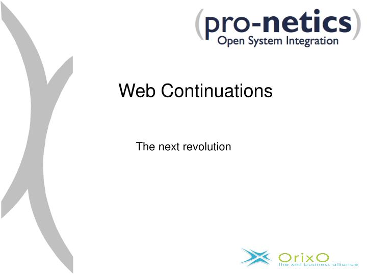 Web Continuations