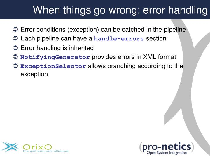 When things go wrong: error handling