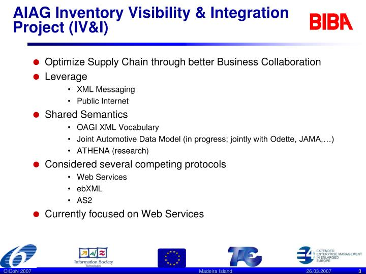 Aiag inventory visibility integration project iv i