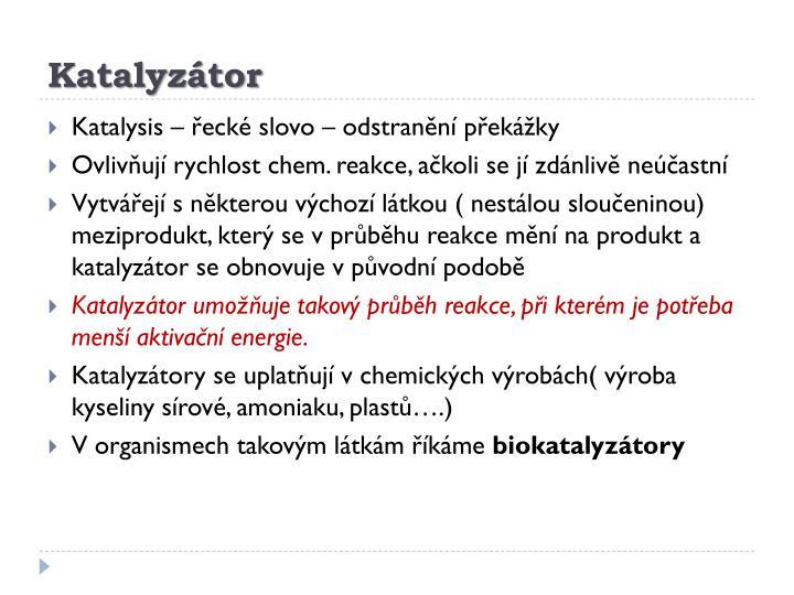 Katalyzátor