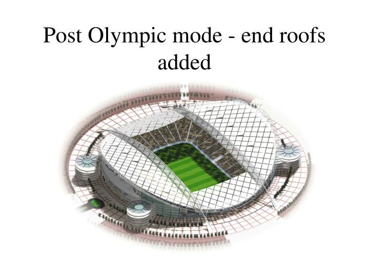 Post Olympic mode - end roofs added