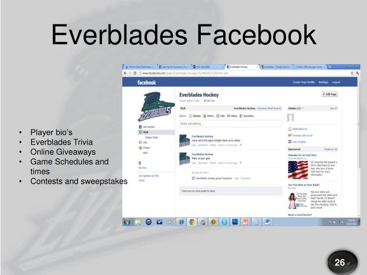 Everblades Facebook