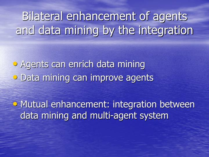 Bilateral enhancement of agents and data mining by the integration