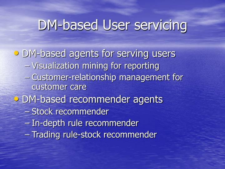 DM-based User servicing