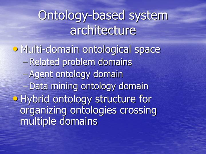 Ontology-based system architecture
