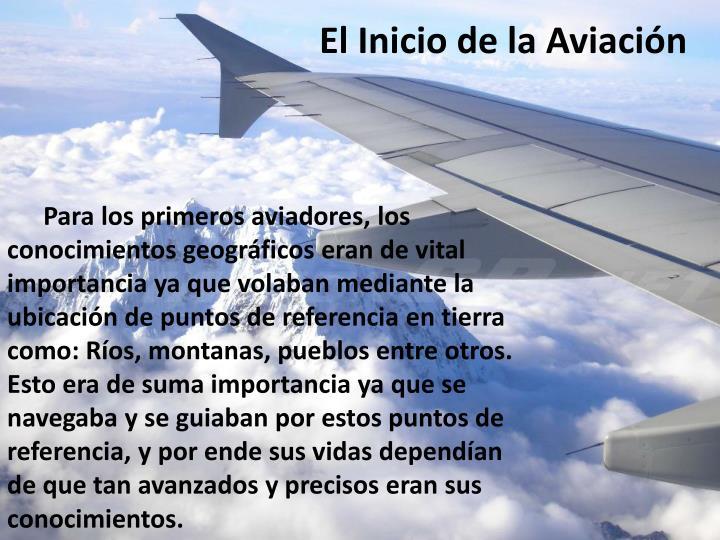 El Inicio de la Aviación