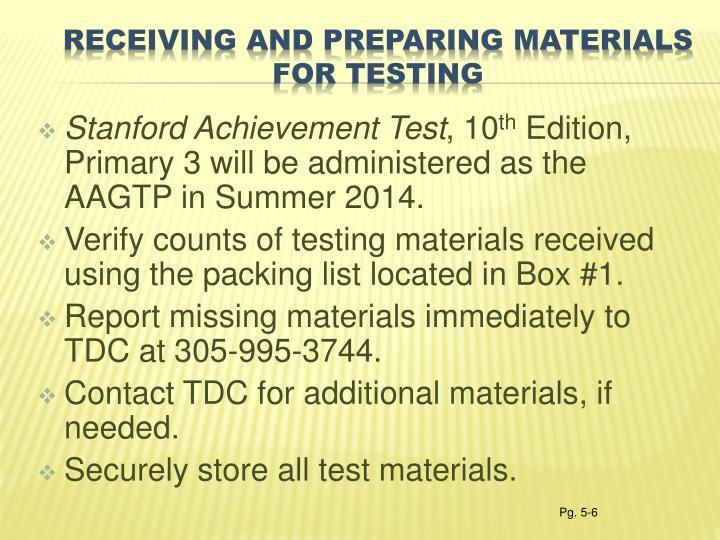Stanford Achievement Test