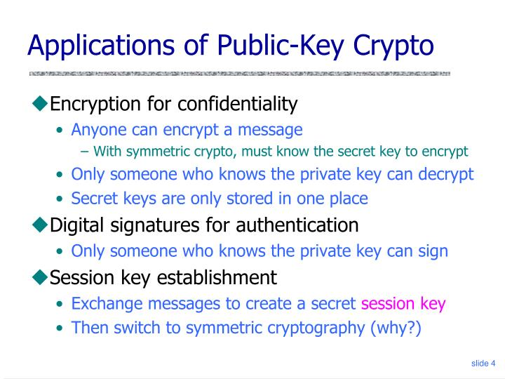 Applications of Public-Key Crypto