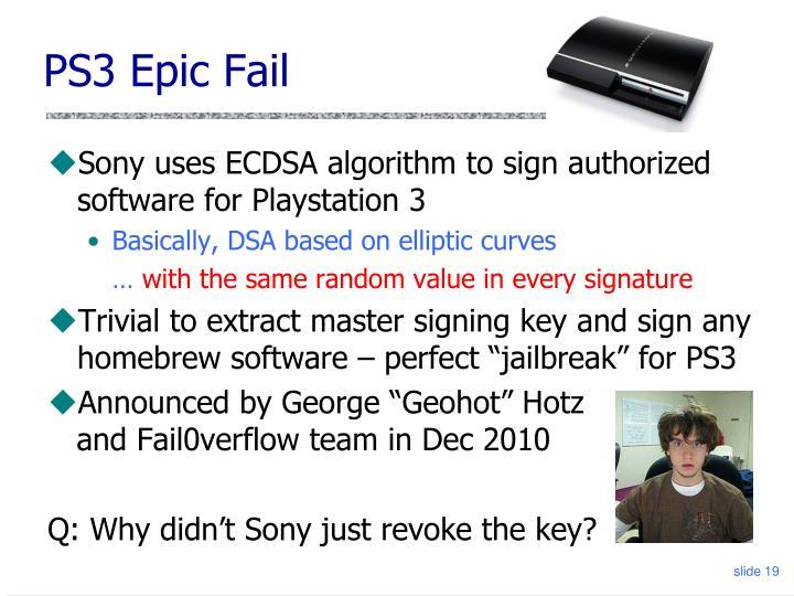 PS3 Epic Fail