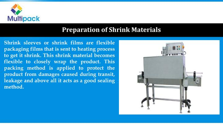 Preparation of Shrink Materials