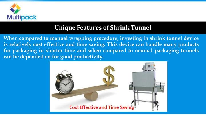 Unique Features of Shrink Tunnel