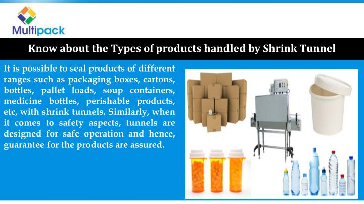 Know about the Types of products handled by Shrink Tunnel