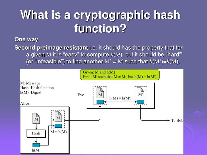 cryptography one way function