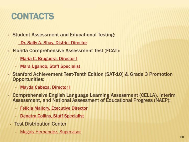 Student Assessment and Educational Testing:
