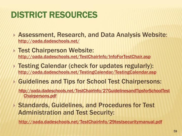 Assessment, Research, and Data Analysis Website