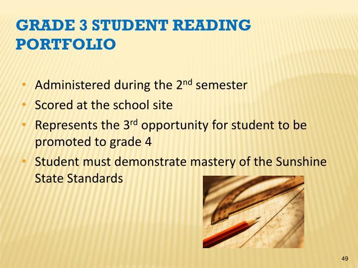 Grade 3 Student Reading Portfolio