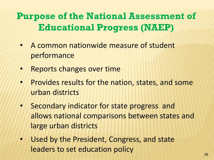 Purpose of the National Assessment of Educational Progress (NAEP)